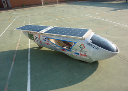 Installations on special vehicles for solar competitions