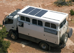Solbian flexible solar panels installed on cars, campers, trucks and other vehicles