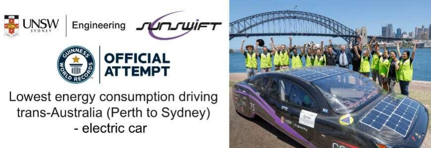 4100km con 25 euro: il nuovo record mondiale è di Sunswift
