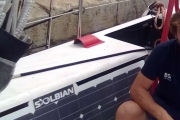 The Maserati racing boat uses SolbianFlex panels