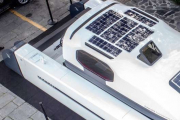Solbian solar panels for Outcut 29.5: the latest generation towable catamaran